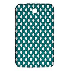 Circular Pattern Blue White Samsung Galaxy Tab 3 (7 ) P3200 Hardshell Case  by AnjaniArt