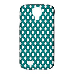 Circular Pattern Blue White Samsung Galaxy S4 Classic Hardshell Case (pc+silicone) by AnjaniArt