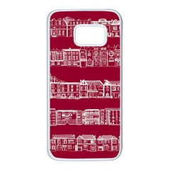 City Building Red Samsung Galaxy S7 White Seamless Case