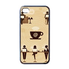 Coffee Ofice Work Commmerce Apple Iphone 4 Case (black) by AnjaniArt