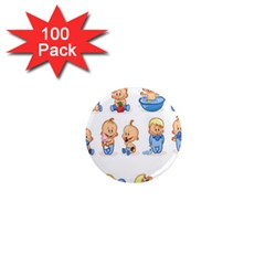 Cute Baby Picture Funny 1  Mini Magnets (100 pack)  by AnjaniArt