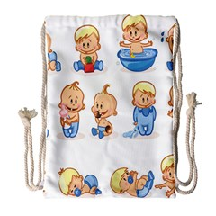 Cute Baby Picture Funny Drawstring Bag (large) by AnjaniArt