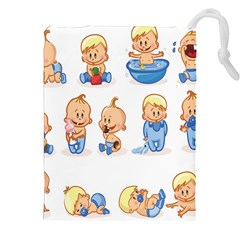 Cute Baby Picture Funny Drawstring Pouches (xxl) by AnjaniArt