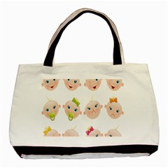 Cute Baby Picture Basic Tote Bag by AnjaniArt