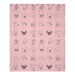 Dog Pink Shower Curtain 60  X 72  (medium)  by AnjaniArt