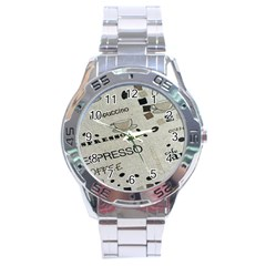 Coffe Cup Stainless Steel Analogue Watch by AnjaniArt