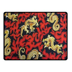Dragon Double Sided Fleece Blanket (Small)  by AnjaniArt