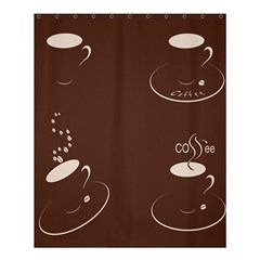Four Coffee Cups Shower Curtain 60  X 72  (medium)  by AnjaniArt
