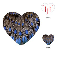 Feathers Peacock Light Playing Cards (heart)  by AnjaniArt