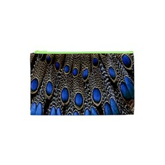 Feathers Peacock Light Cosmetic Bag (xs) by AnjaniArt