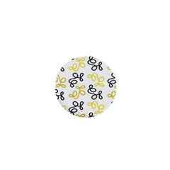 Yellow elegance 1  Mini Buttons by Valentinaart