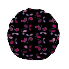 Magenta Garden Standard 15  Premium Round Cushions by Valentinaart