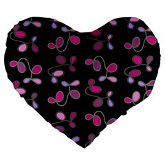 Magenta Garden Large 19  Premium Heart Shape Cushions by Valentinaart