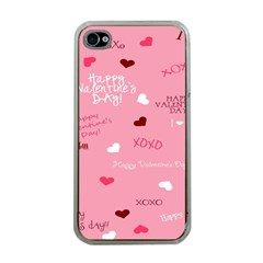 Happy Valentines Day Apple Iphone 4 Case (clear) by AnjaniArt