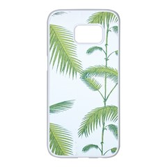 Hawai Tree Samsung Galaxy S7 Edge White Seamless Case