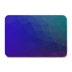 Polyart Dark Blue Purple Pattern Plate Mats by AnjaniArt