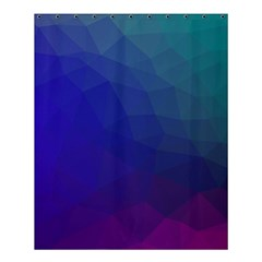 Polyart Dark Blue Purple Pattern Shower Curtain 60  X 72  (medium)  by AnjaniArt