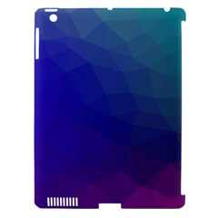 Polyart Dark Blue Purple Pattern Apple Ipad 3/4 Hardshell Case (compatible With Smart Cover) by AnjaniArt