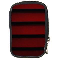 Line Red Black Compact Camera Cases by AnjaniArt