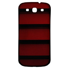 Line Red Black Samsung Galaxy S3 S Iii Classic Hardshell Back Case by AnjaniArt