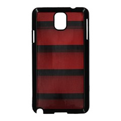 Line Red Black Samsung Galaxy Note 3 Neo Hardshell Case (Black) by AnjaniArt