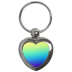 Purple Blue Green Key Chains (heart)  by AnjaniArt