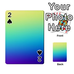 Purple Blue Green Playing Cards 54 Designs  by AnjaniArt