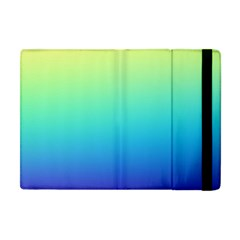 Purple Blue Green Apple Ipad Mini Flip Case by AnjaniArt