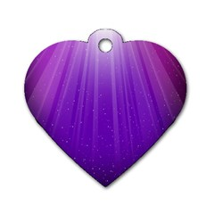 Purple Colors Fullcolor Dog Tag Heart (one Side) by AnjaniArt