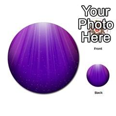 Purple Colors Fullcolor Multi Purpose Cards (round)  by AnjaniArt