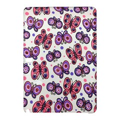 Pink Purple Butterfly Samsung Galaxy Tab Pro 12 2 Hardshell Case by AnjaniArt
