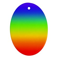 Rainbow Blue Green Pink Orange Ornament (oval)  by AnjaniArt