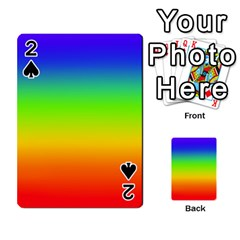 Rainbow Blue Green Pink Orange Playing Cards 54 Designs  by AnjaniArt