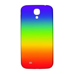 Rainbow Blue Green Pink Orange Samsung Galaxy S4 I9500/i9505  Hardshell Back Case by AnjaniArt