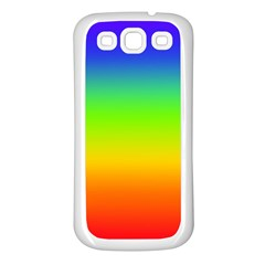 Rainbow Blue Green Pink Orange Samsung Galaxy S3 Back Case (white) by AnjaniArt