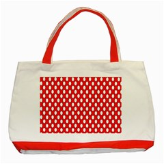 Red Circular Pattern Classic Tote Bag (red) by AnjaniArt