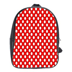 Red Circular Pattern School Bags(large)  by AnjaniArt