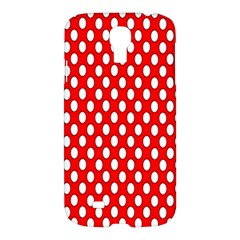 Red Circular Pattern Samsung Galaxy S4 I9500/i9505 Hardshell Case by AnjaniArt