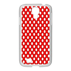 Red Circular Pattern Samsung Galaxy S4 I9500/ I9505 Case (white) by AnjaniArt