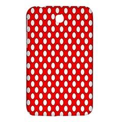 Red Circular Pattern Samsung Galaxy Tab 3 (7 ) P3200 Hardshell Case  by AnjaniArt
