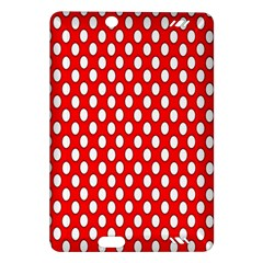 Red Circular Pattern Amazon Kindle Fire Hd (2013) Hardshell Case by AnjaniArt