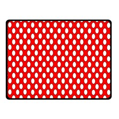 Red Circular Pattern Double Sided Fleece Blanket (small)  by AnjaniArt