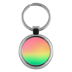 The Walls Pink Green Yellow Key Chains (round)  by AnjaniArt