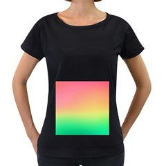 The Walls Pink Green Yellow Women s Loose Fit T Shirt (black) by AnjaniArt