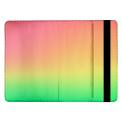 The Walls Pink Green Yellow Samsung Galaxy Tab Pro 12 2  Flip Case by AnjaniArt