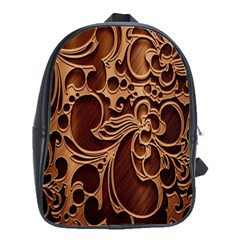 Tekstura Twigs Chocolate Color School Bags(large)  by AnjaniArt