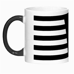 Black & White Stripes Big Triangle Morph Mugs by EDDArt