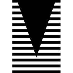 Black & White Stripes Big Triangle 5 5  X 8 5  Notebooks by EDDArt