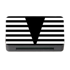 Black & White Stripes Big Triangle Memory Card Reader With Cf by EDDArt