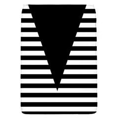 Black & White Stripes Big Triangle Flap Covers (s)  by EDDArt